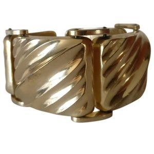 vintage madsive gold plated link bracelet